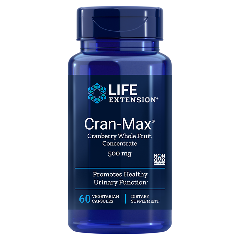 Life Extension Cran-Max Cranberry Extract, 500 mg 60 capsules to promote urinary health