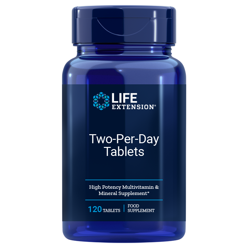 Life Extension Two-Per-Day 120 tablets for essential needs of vitamins, minerals, antioxidants for good health