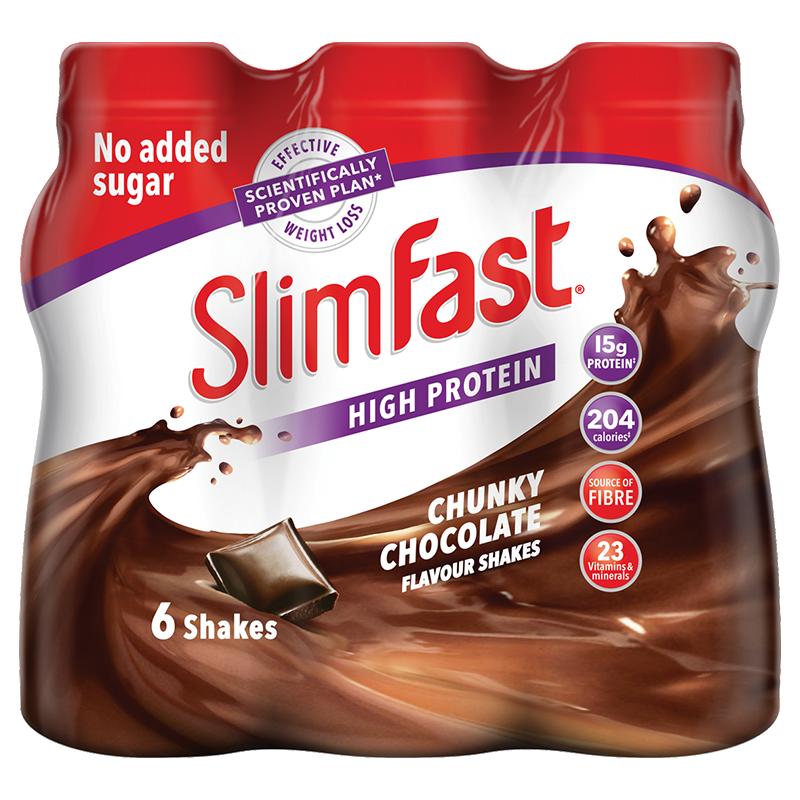 Life Extension SlimFast Milkshake Chocolate, 6 x 325 ml to support weight management