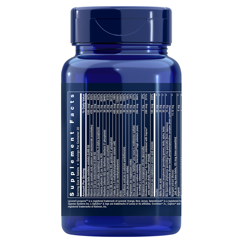 Life Extension Two-Per-Day 60 tablets, supplement info