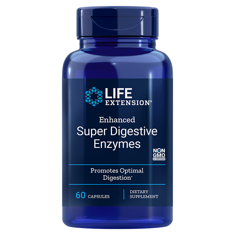 Life Extension Enhanced Super Digestive Enzymes, 60 vegetarian capsules of powerful enzymes for healthy digestion