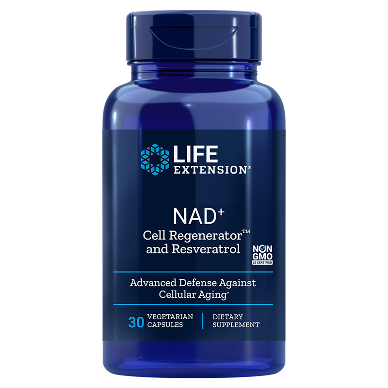 Life Extension NAD+ Cell Regenerator™ and Resveratrol, 300 mg 30 vegetarian capsules for defence against cell aging