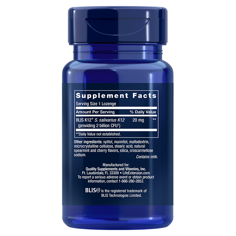 Life Extension FLORASSIST® Throat Health, supplement facts
