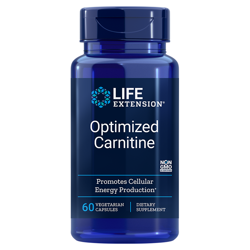 Life Extension Optimized Carnitine, 60 vegetarian capsules to promote heart & brain health