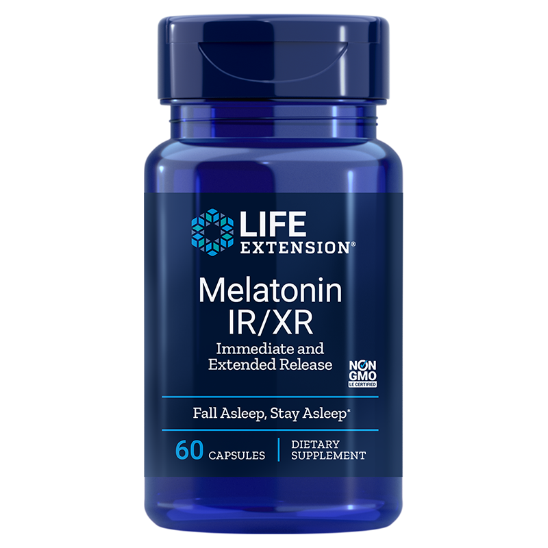 Life Extension supplement 100 vegetarian capsules Melatonin, 100 mcg low-dose for sleep & cellular health