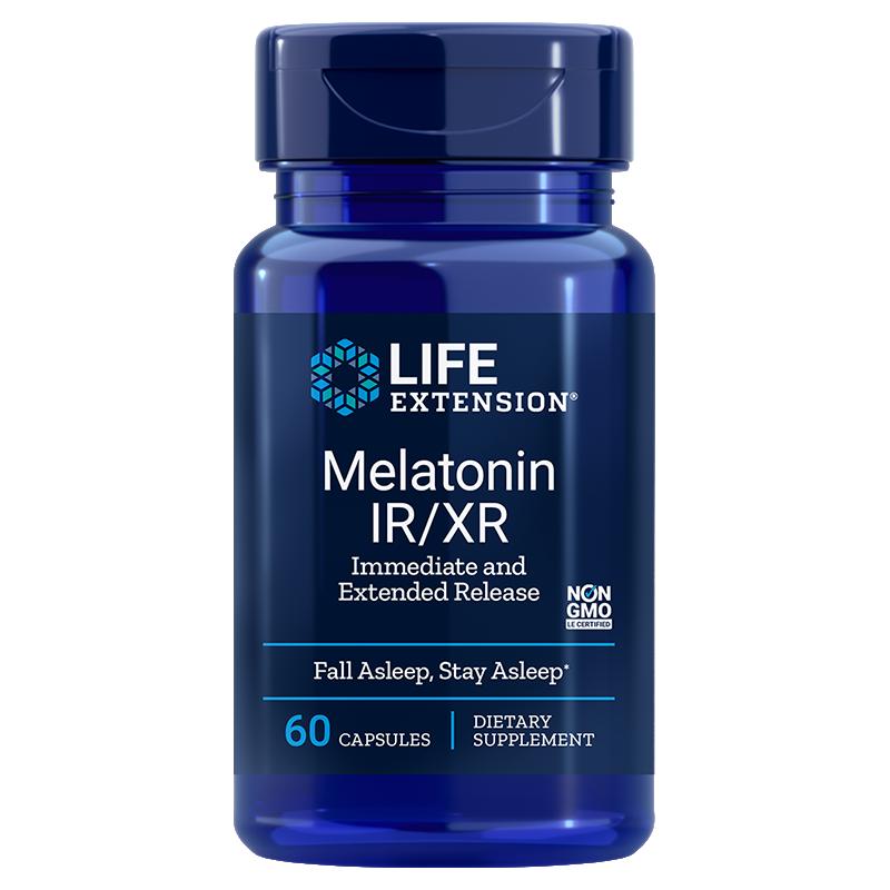 Life Extension supplement 100 vegetarian capsules Melatonin, 100 mcg low-dose for sleep & cellular health