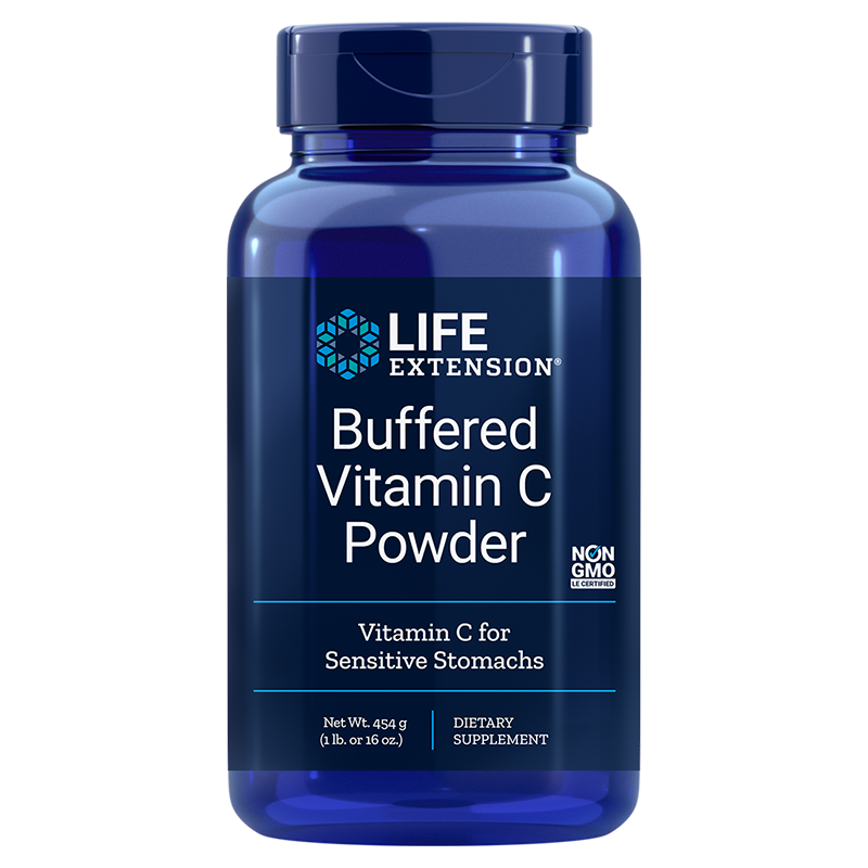 Life Extension Buffered Vitamin C Powder, 454 g for oxidative stress-reduction, immune system and whole-body support