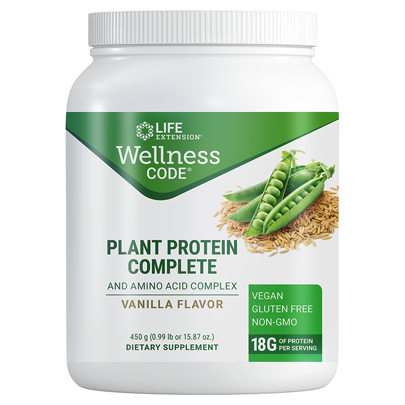 Life Extension Wellness Code® Plant Protein Complete & Amino Acid Complex, protein powder and amino acids complex
