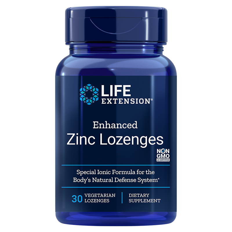 Life Extension Enhanced Zinc Lozenges, 30 vegetarian lozenges for defense against seasonal immune challenges