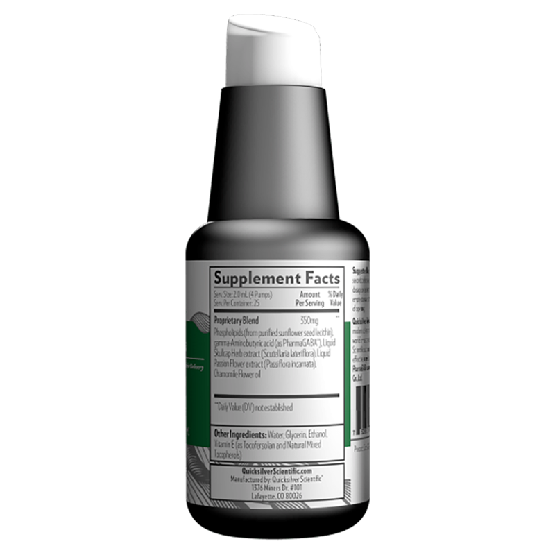 Life Extension 50 ml LipoCalm™ to promote a healthy and restorative sleep cycle, supplement facts