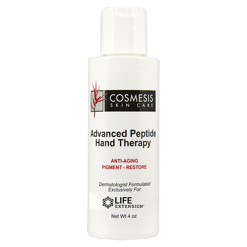 Life Extension Cosmesis Skin Care, Advanced Peptide Hand Therapy, antiaging pigment restore