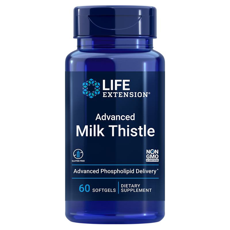 Life Extension supplements Advanced Milk Thistle, 60 Softgels to promote healthy liver function