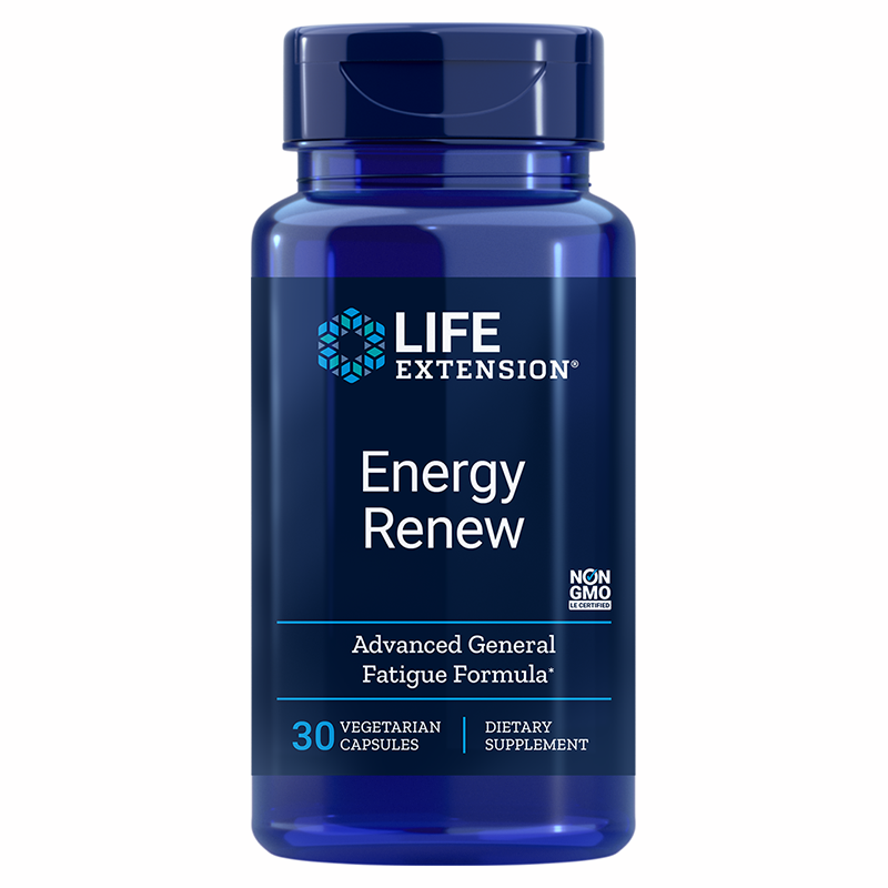 Life Extension Energy Renew, 200 mg 30 vegetarian capsules to reduce general fatigue and maintain energy levels