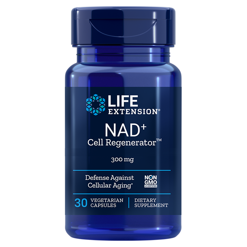 Life Extension NAD+ Cell Regenerator™, 30 vegetarian capsules for cell metabolism-, vitality- and anti-aging support