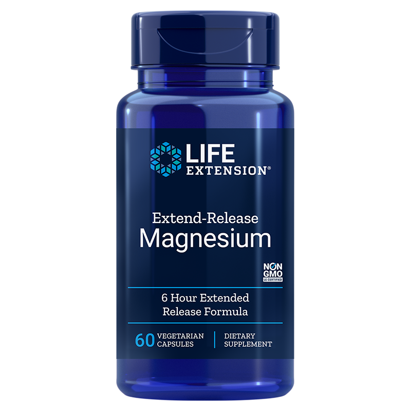 Life Extension 60 vegetarian capsules Extend-Release Magnesium, 6-hour formula to support cardiovascular- and bone health