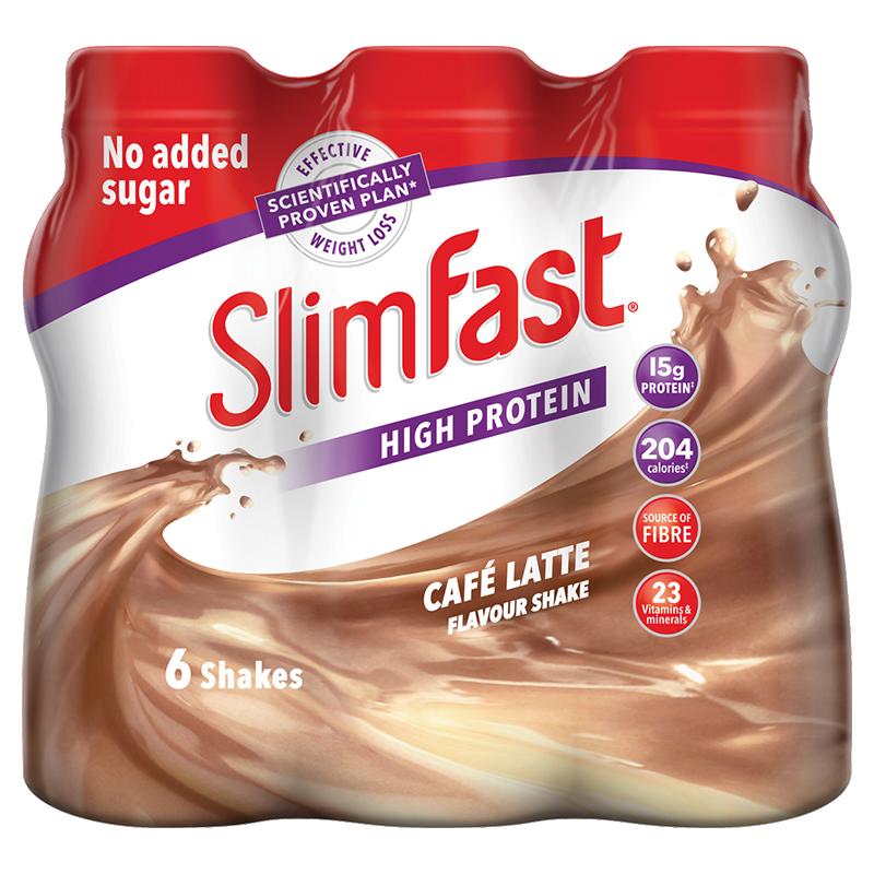 Life Extension SlimFast Milkshake Café Latte, 6 x 325 ml to support weight management