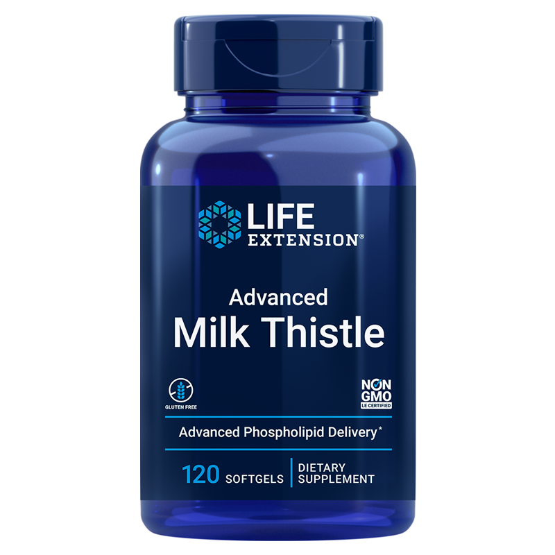 Life Extension supplements Advanced Milk Thistle, 120 softgels to promote healthy liver function