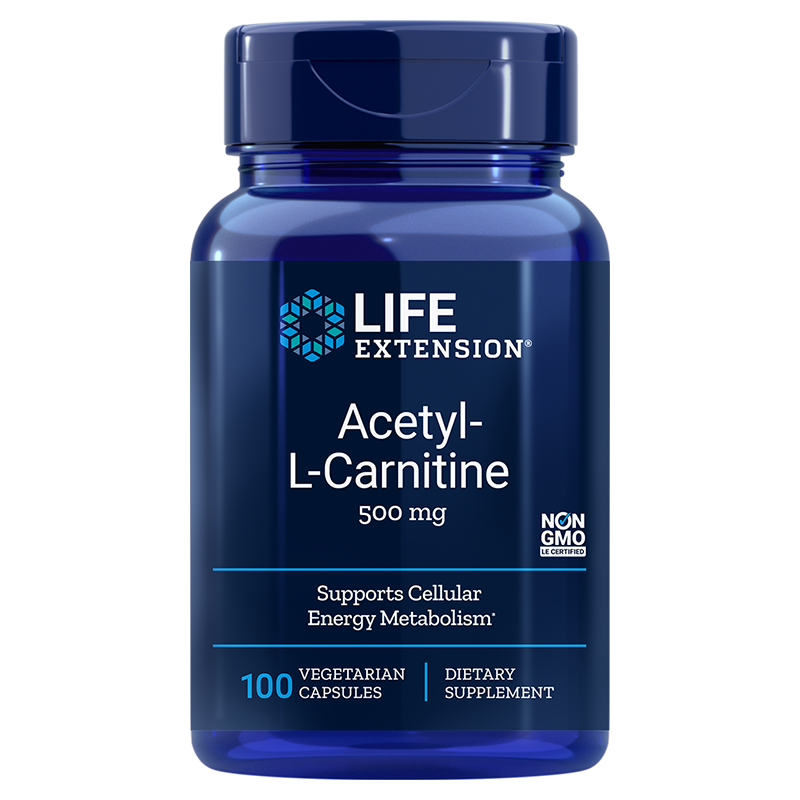 Life Extension Acetyl-L-Carnitine 100 vegetarian capsules, supports cellular energy metabolism