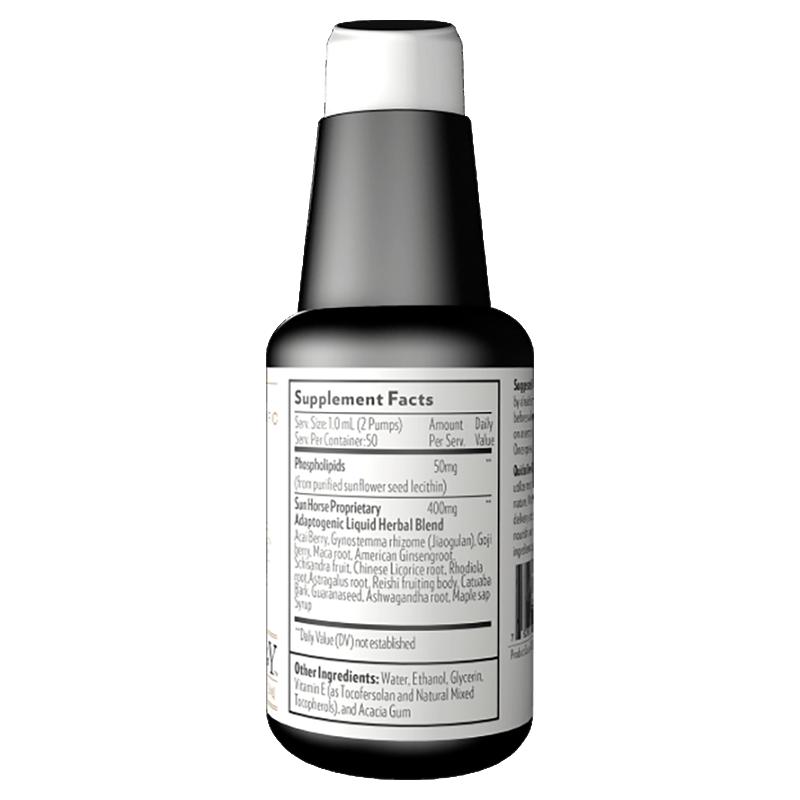 Life Extension 50 ml liquid of Ultra Energy Liposomal Adaptogenic Blend, supplement facts