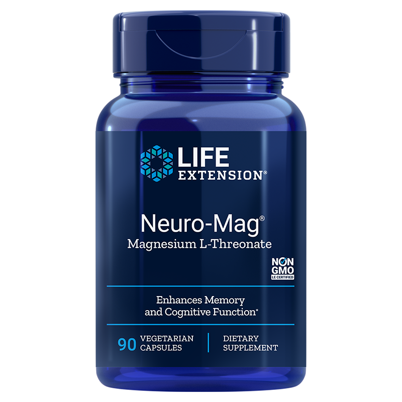 Life Extension Neuro-Mag® Magnesium L-Threonate, 90 vegetarian capsules for processes in the body and cognitive function