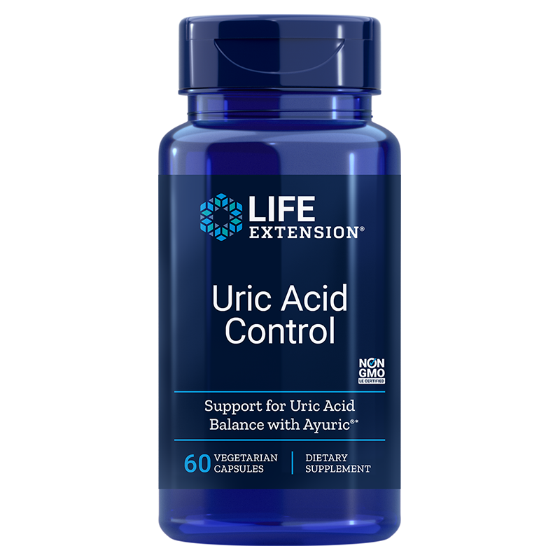 Life Extension Uric Acid Control, 60 vegetarian capsules to promote healthy uric acid balance