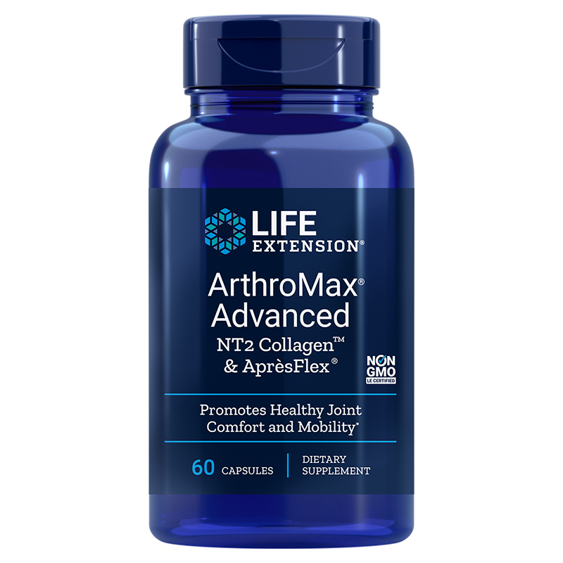 Life Extension ArthroMax® Advanced with NT2 Collagen™ & AprèsFlex®, 60 capsules for joint health, comfort and mobility