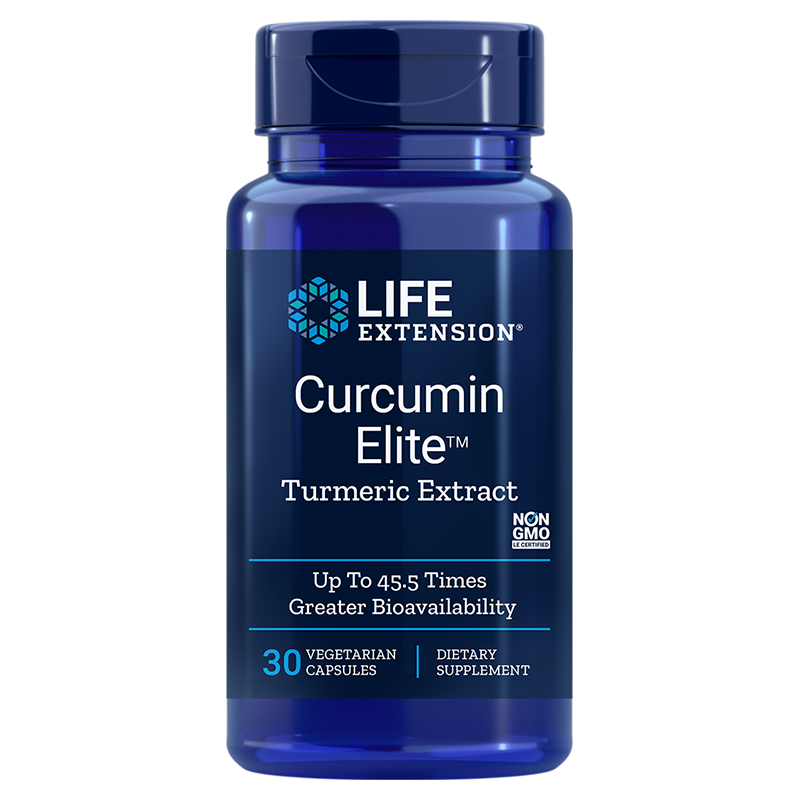 Life Extension Curcumin Elite™ Turmeric Extract, 30 vegetarian capsules to support brain, immun system, joint, organs