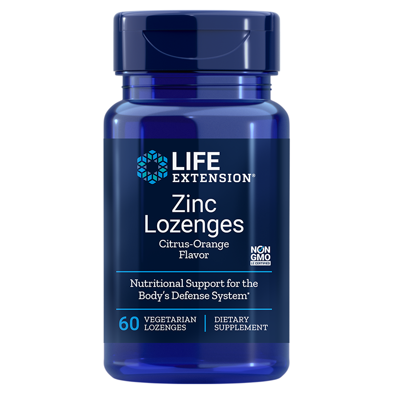 Life Extension Zinc Lozenges, 60 vegetarian lozenges for immune health support