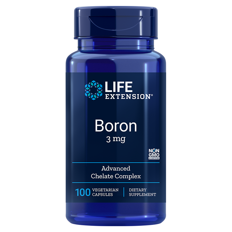 Life Extension Boron supplement, 100 vegetarian capsules to support for bone, health and more