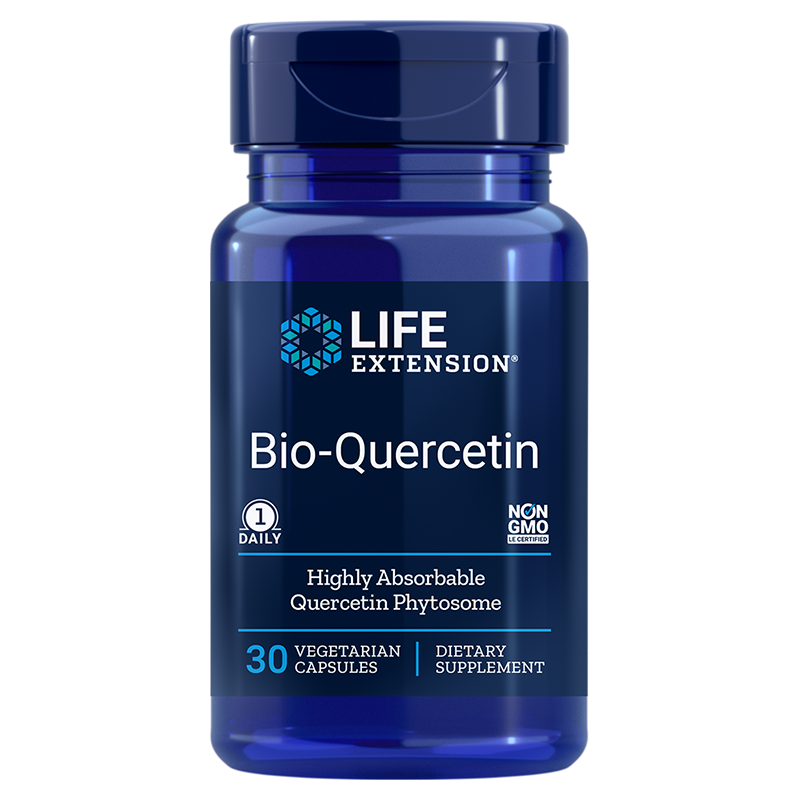 Life Extension supplement Bio Quercetin, 30 vegetarian capsules for the cardiovascular & immune health