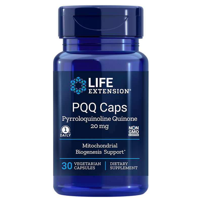 Life Extension PQQ Caps, 20 mg 30 vegetarian capsules for mitochondrial support, cognition and heart health