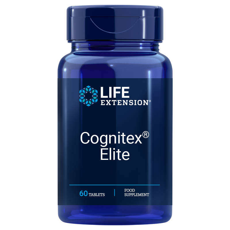 Life Extension Cognitex® Elite, 60 vegetarian tablets for highly advanced brain health support