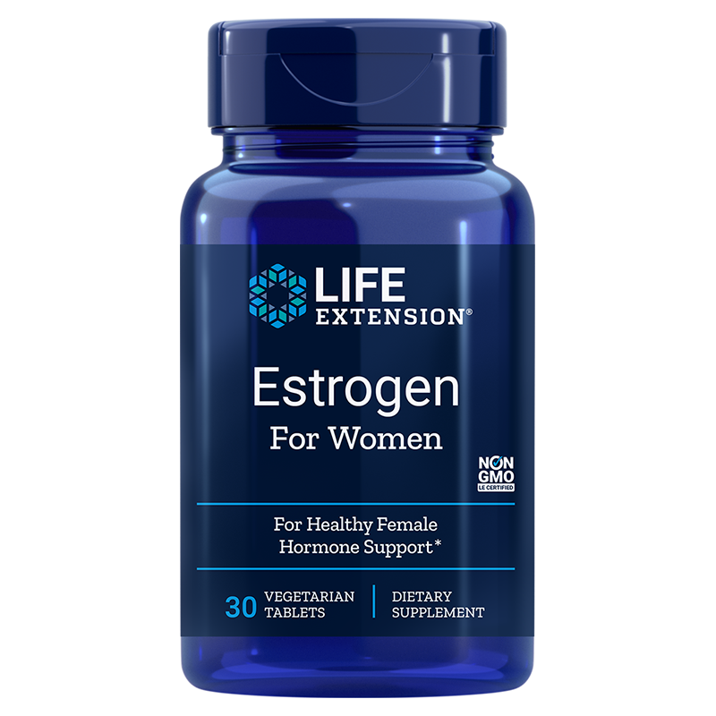 Life Extension Estrogen for Women, 30 vegetarian tablets for menopausal discomfort relief
