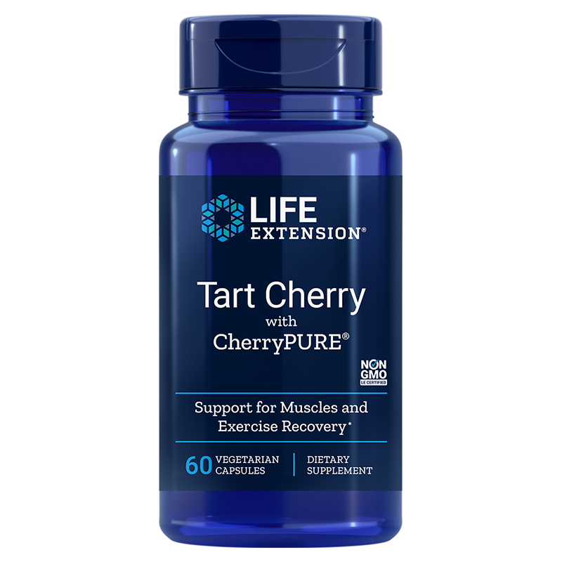 Life Extension Tart Cherry with CherryPURE®, 480 mg 60 vegetarian capsules for rapid muscle recovery after exercise
