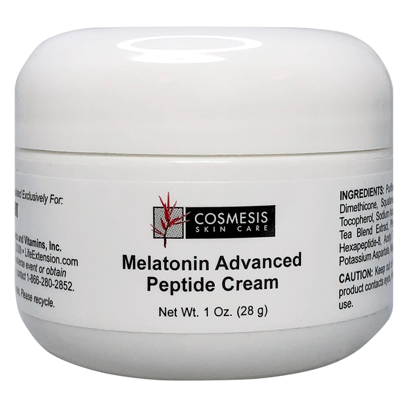 Life Extension Melatonin Advanced Peptide Cream, powerful anti-aging skin formula with melatonin for skin rejuvenation