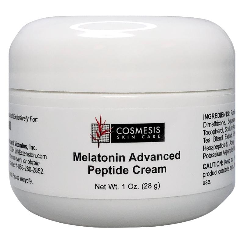 Life Extension Melatonin Advanced Peptide Cream, powerful anti-aging skin formula with melatonin for skin rejuvenation