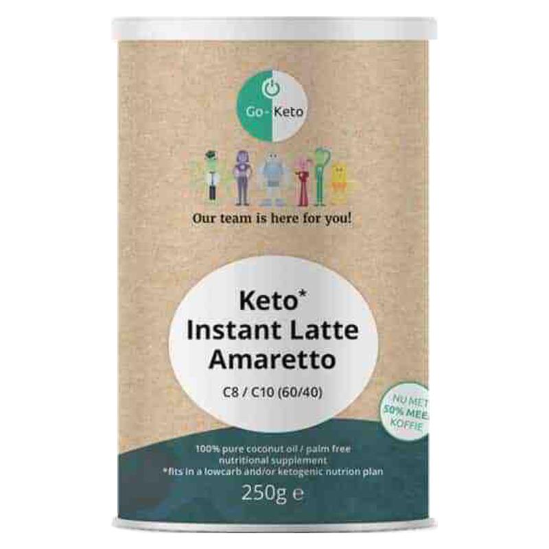 Go-Keto Instant Keto MCT Coffee Latte Amaretto