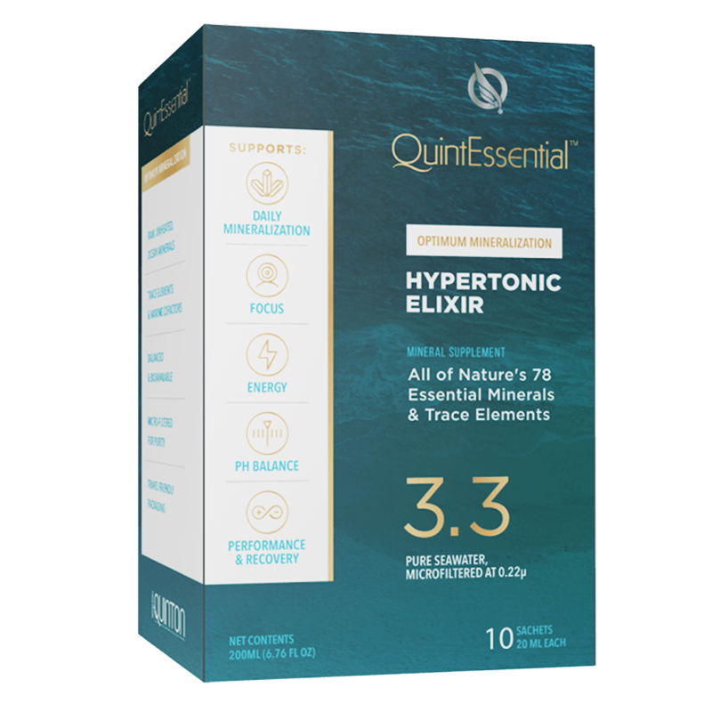 Life Extension QuintEssential® Hypertonic Elixir 3.3, 10 sachets liquid for optimal hydration the natural way