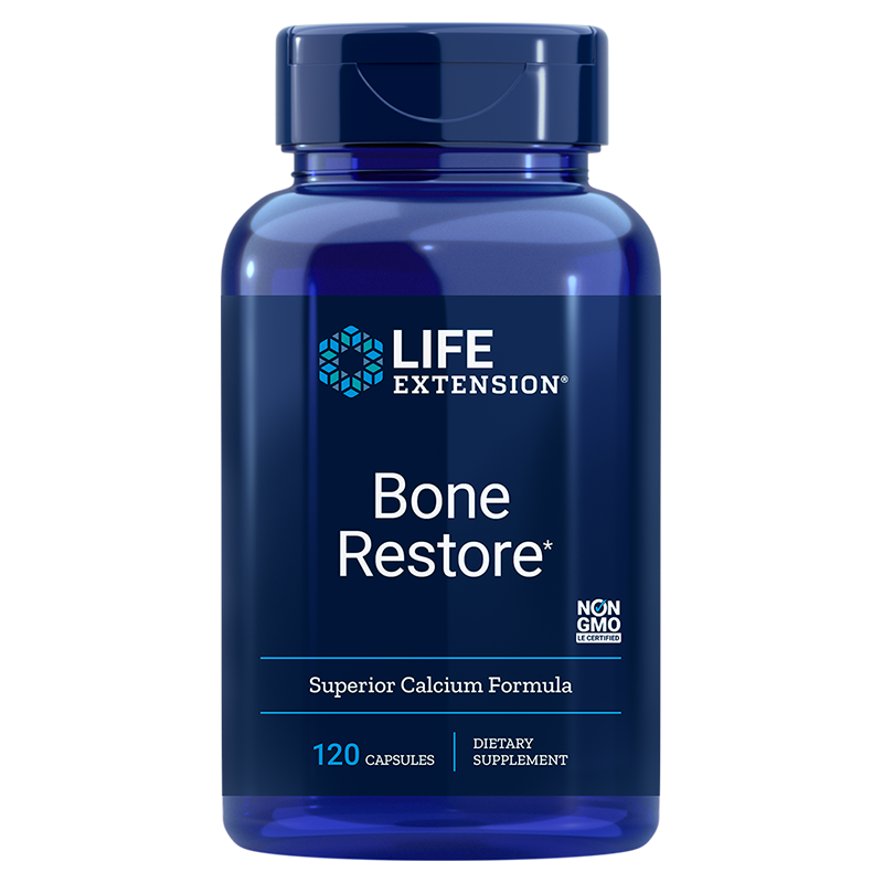 Life Extension supplement Bone Restore, 120 capsulses for comprehensive bone support