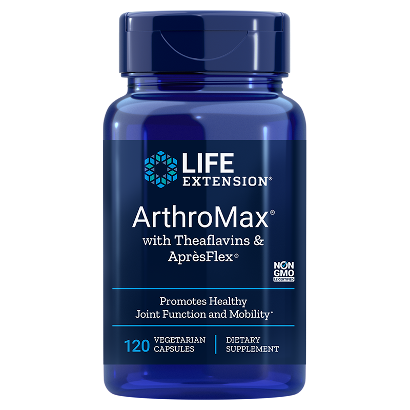 Life Extension ArthroMax® with Theaflavins & AprèsFlex®, 120 vegetarian capsules for multi-nutrient joint support