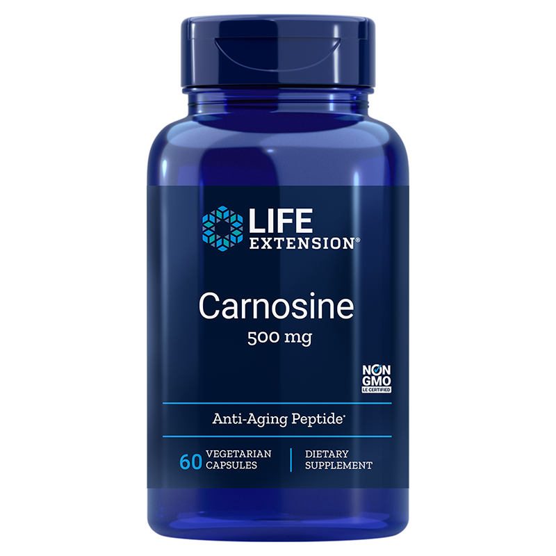 Life Extension Carnosine, 500 mg 60 vegetarian capsules of potent anti-aging compound