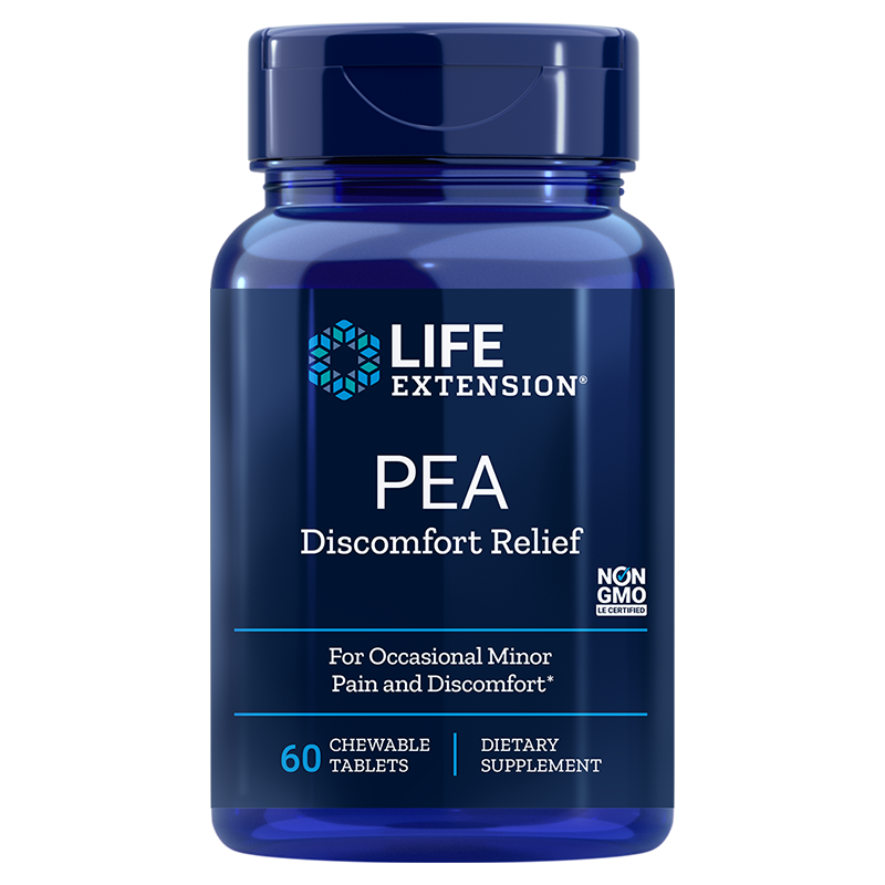 Life Extension PEA Discomfort Relief, 60 chewable tablets for occasional discomfort relief