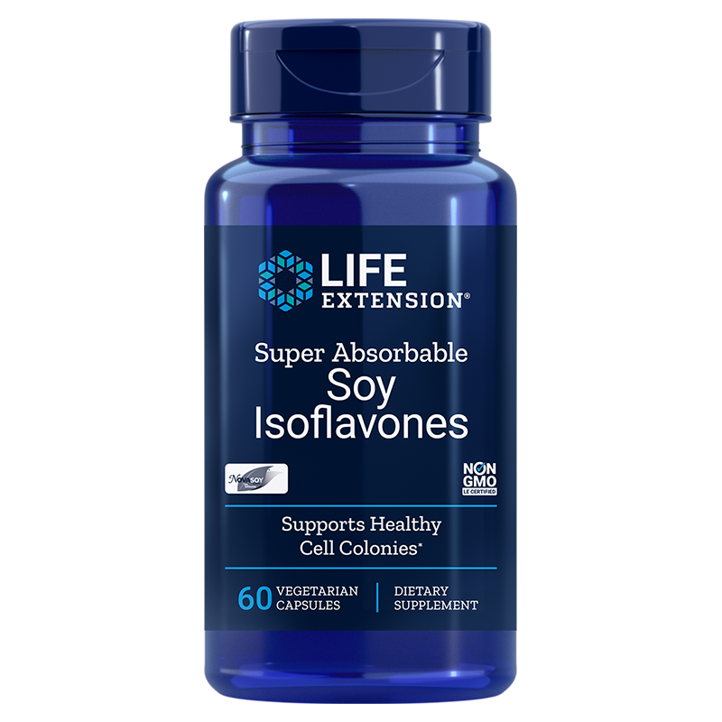 Life Extension Super-Absorbable Soy Isoflavones, 60 vegetarian capsules to promote healthy cell function