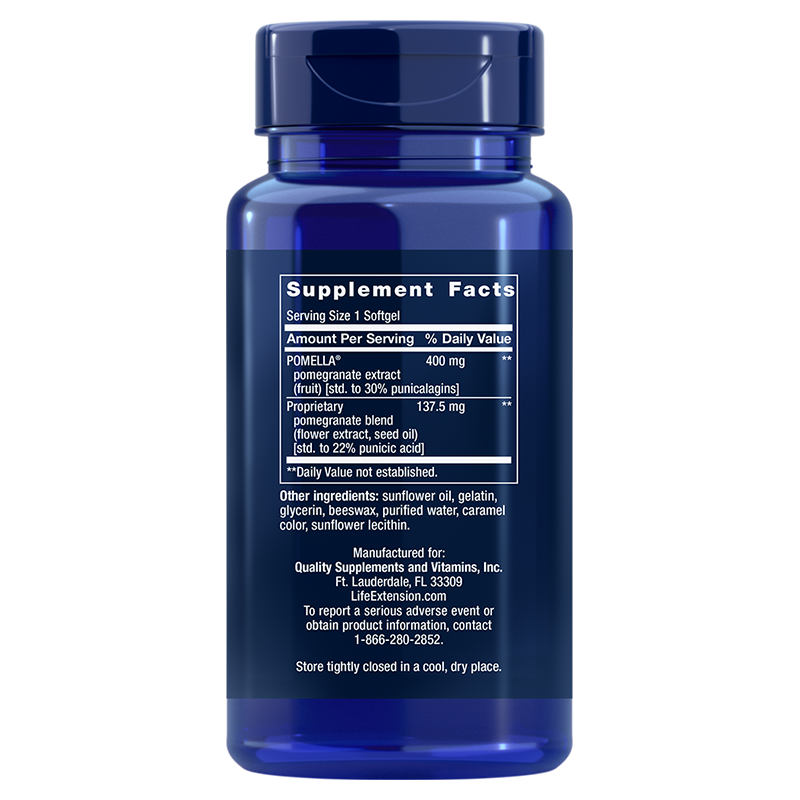 Life Extension Pomegranate Complete, supplement facts