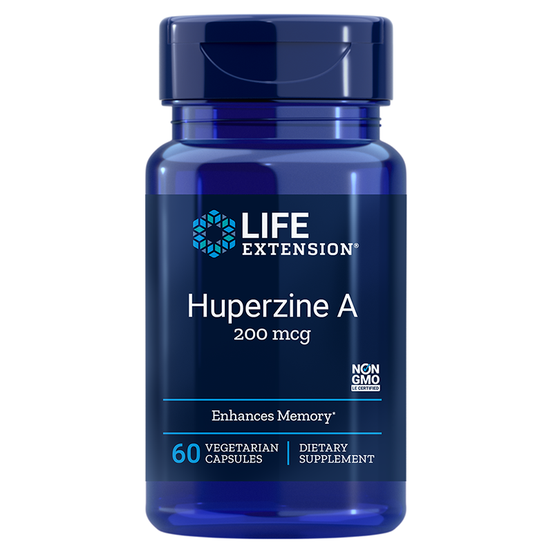 Life Extension Huperzine A, 200 mcg 60 vegetarian capsules for enhanced memory