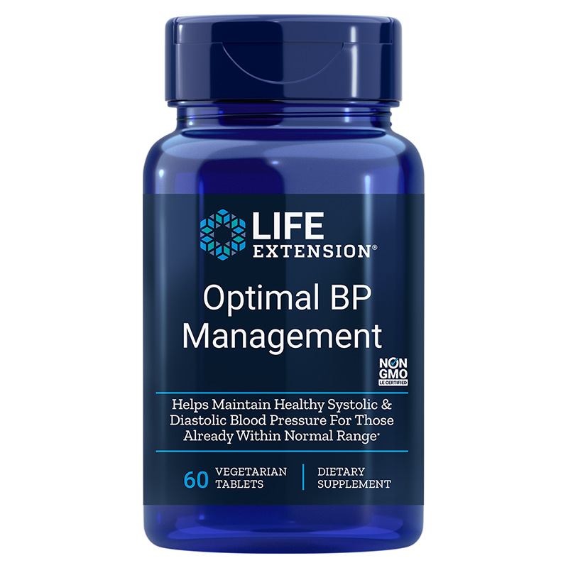 Life Extension Optimal BP Management, 60 vegetarian tablets to healthy blood pressure