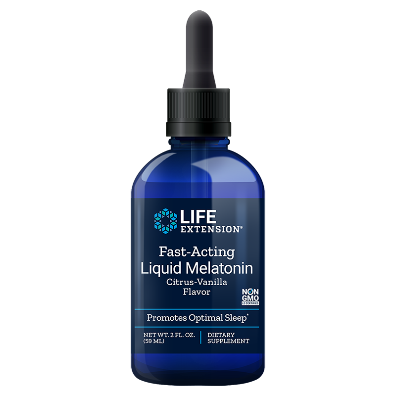 Life Extension supplement Fast-Acting Liquid Melatonin, 59 ml liquid for for sleep & cellular health