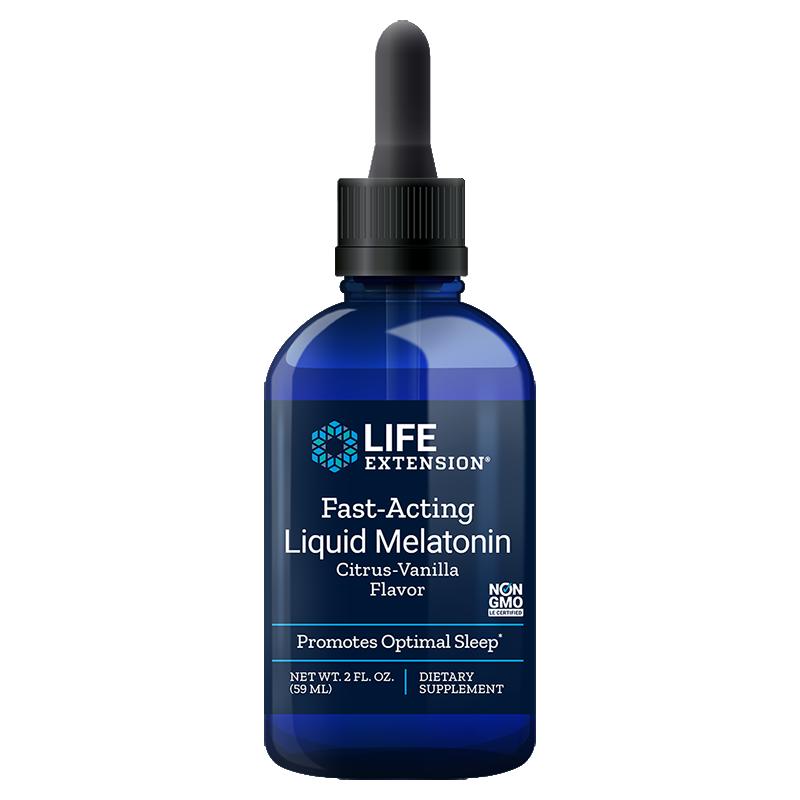 Life Extension supplement Fast-Acting Liquid Melatonin, 59 ml liquid for for sleep & cellular health