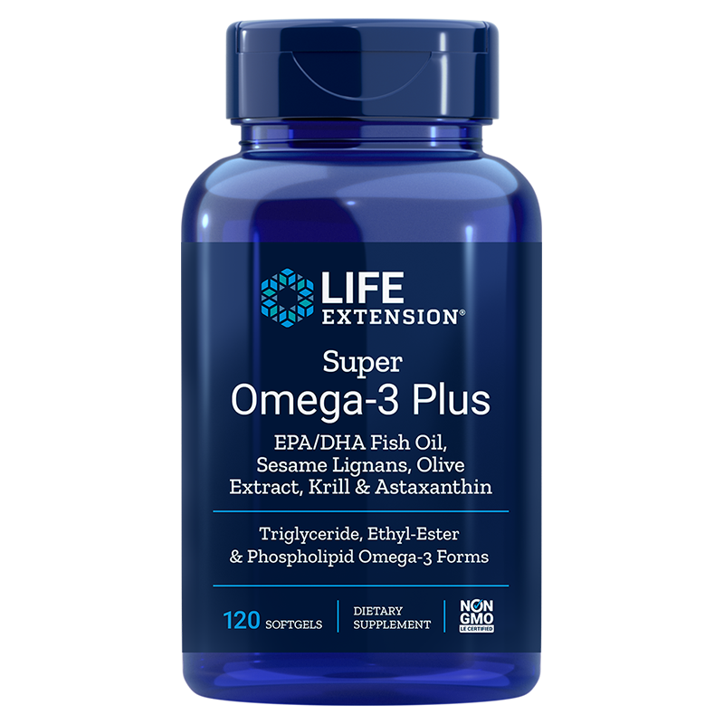 Super Omega-3 Plus EPA/DHA with Sesame Lignans, Olive Extract, Krill & Astaxanthin, 120 cps
