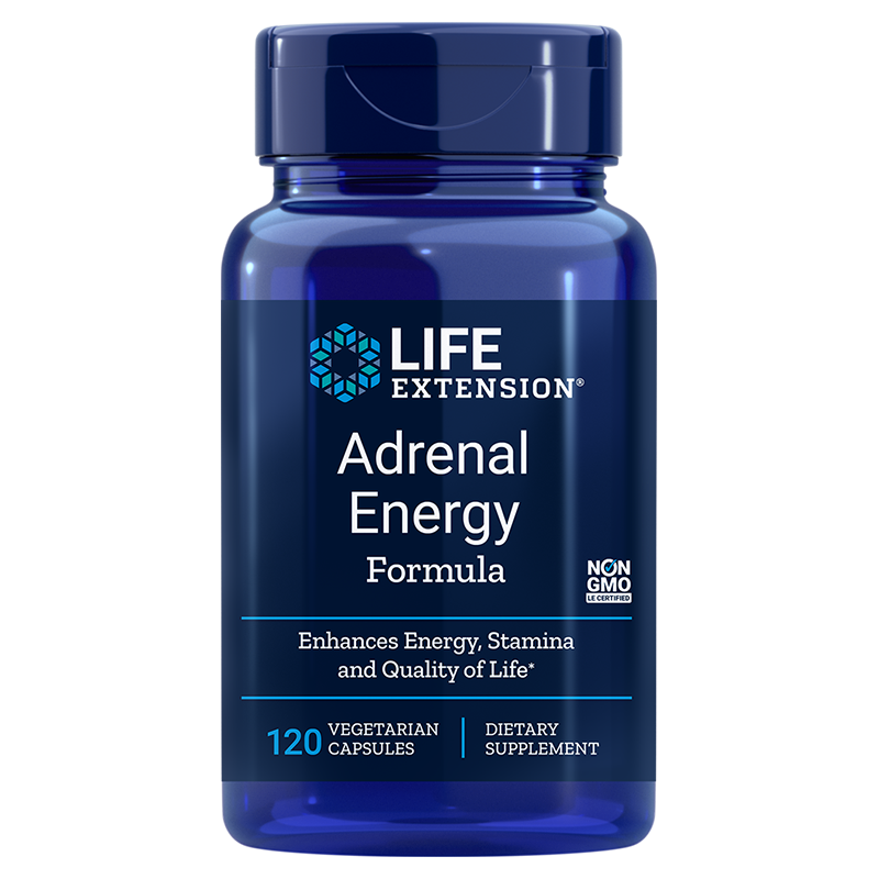 Life Extension Adrenal Energy Formula, 60 vegetarian capsules for healthy energy, vitality and relief for effects of stress